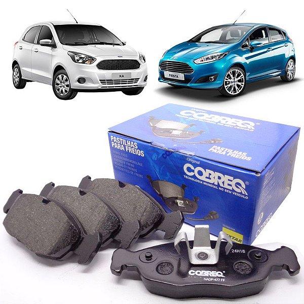 Jogo De Pastilhas Freio Dianteiras Cobreq N1465 - Ford New Fiesta 2010 em diante e Ka de 2014 em diante