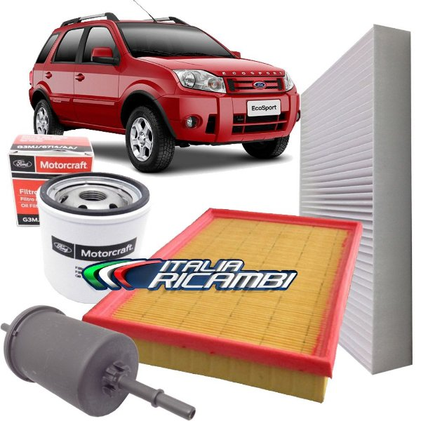 Kit filtros de ar, óleo, combustível e cabine - Ford Ecosport 2.0 de 2008 até 2012