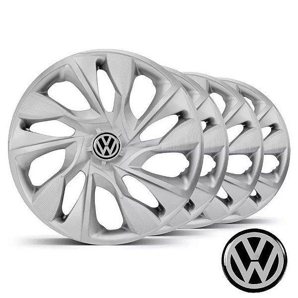 Jogo calotas esportivas Elitte DS4 Silver aro 13 emblema VW - Gol Fox Polo Voyage Saveiro - LC300