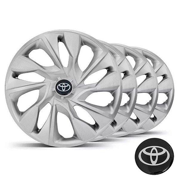 Jogo calotas esportivas Elitte DS4 Silver aro 14 emblema Toyota - Etios - LC330