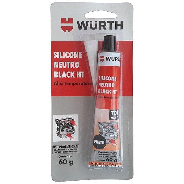 Cola black siliconada alta temperatura Black HT 60G Wurth - 3890323