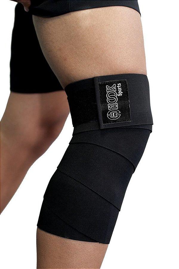 Par de faixa elástica fitness com velcro para academia musculação Cross Fit - Hook  00.404