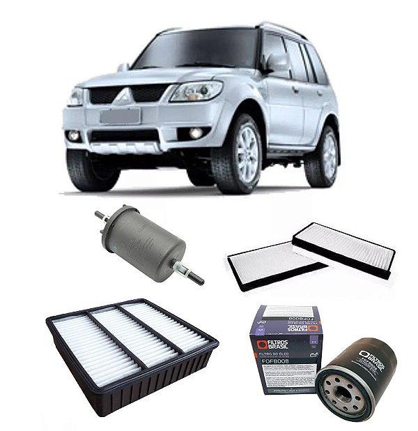 Kit filtros de ar, óleo, combustível e cabine - Mitsubishi TR4 2.0 de 2007 em diante