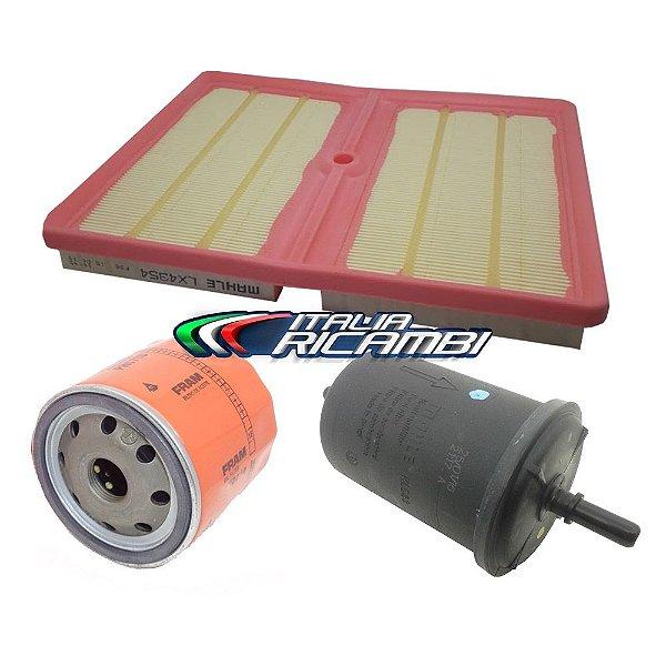 Kit filtros de ar óleo e combustível - VW Golf Polo Virtus Up! e T-Cross 1.0 12V TSi