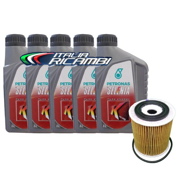 Kit óleo Selenia K 5W30 e filtro - Fiat Bravo Doblò Grand Siena Linea Idea Palio Punto Siena Strada Toro Etorq