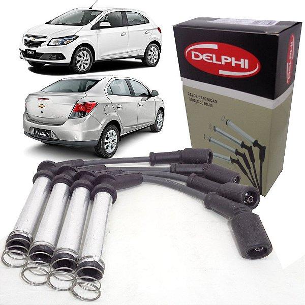 Jogo de cabos de velas Delphi XS10638 - Gm Chevrolet Novo Prisma E Onix 1.0 1.4 8V Após 2012