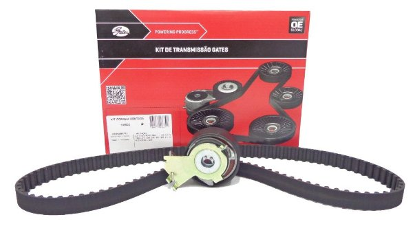 Kit correia dentada Gates KS500 - Citroen C3 1.4 e 1.5 Peugeot 106 1.0, 206 1.4, 207 1.4, 208 1.5