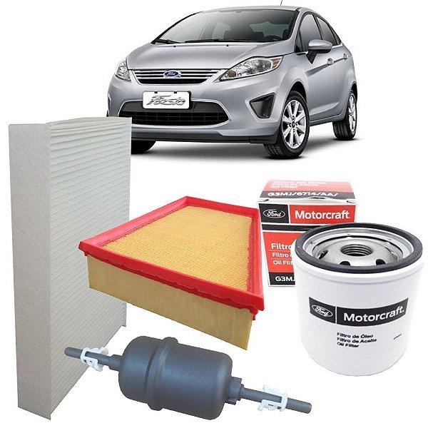 Kit filtros de ar óleo combustível e cabine - Ford New Fiesta Mexicano de 2010 até 2013