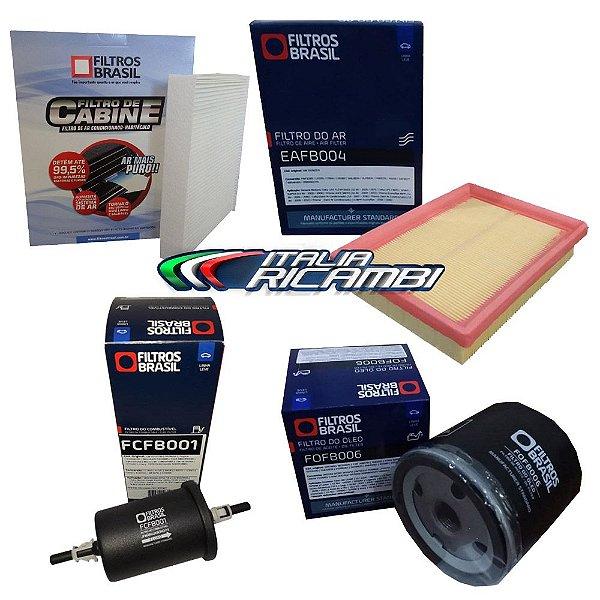Kit filtros de ar, óleo, combustível e cabine - GM Celta até 2016 e Prisma até 2012
