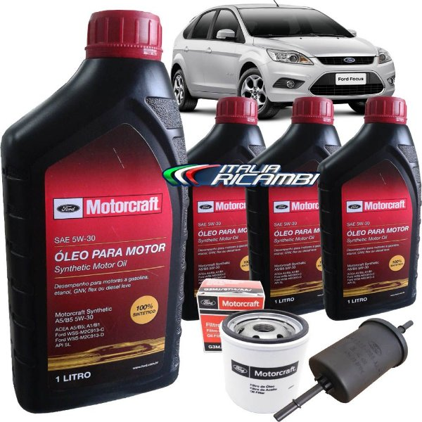 Kit Revisão Ford - 50.000 km 60 meses - Ford Focus 1.6 16V Sigma de 2009 até 2013