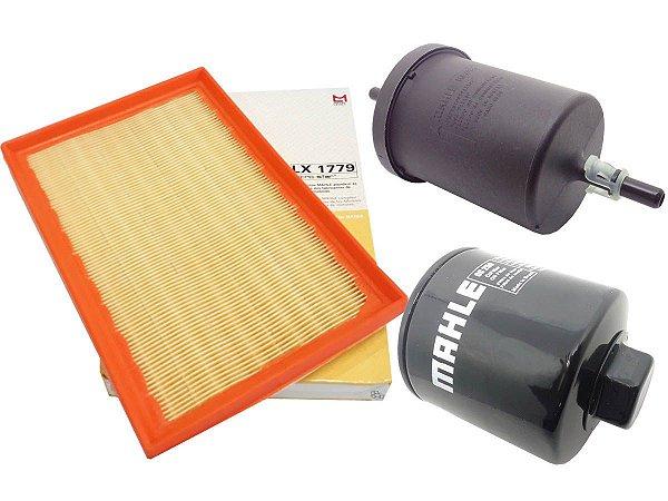 Kit filtros de ar, óleo e combustível Mahle - VW Gol G4 1.0 8V Flex 2005 em diante
