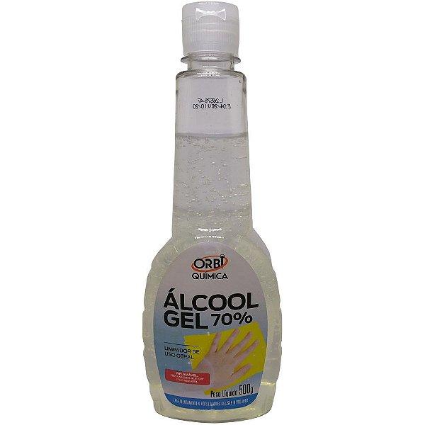 Álcool Gel 70% Antisséptico e Higienizador de Mãos 500G - Orbi 13608