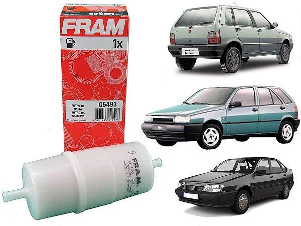 Filtro De Combustível Fram G5493 - Fiat Uno Mille 1.0 8V Fire Tempra 2.0 16V Tipo 1.6 E 2.0 Gasolina