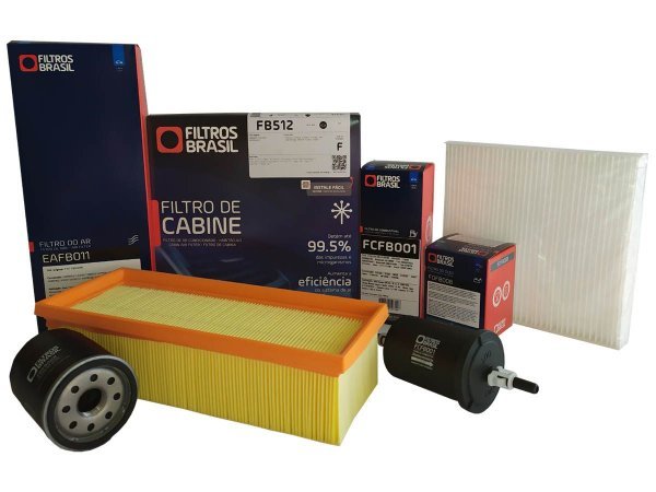 Kit revisão filtros ar óleo combustível ar condicionado Fiat Grand Siena, Mobi, Palio e Uno