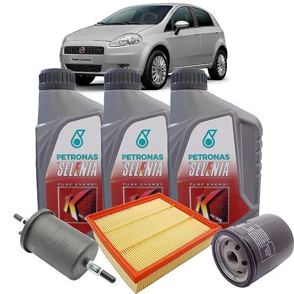 Kit Revisão Troca De Óleo Selenia K 5W30 E Filtros Fiat Punto 1.4 8v Mpi Fire De 2008 Até 2012