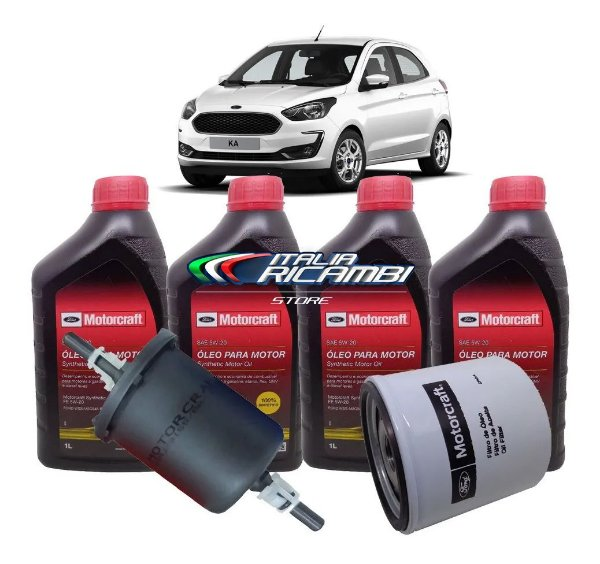 Kit 1ª Revisão 10.000 Km Ford Ka 1.5 12V 3 Cilindros Dragon 2018 2019 2020 2021