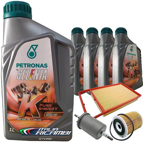 Kit óleo Selenia 5W30 e filtros - Fiat Bravo Doblò Grand Siena Idea Linea Punto Palio Strada Etorq