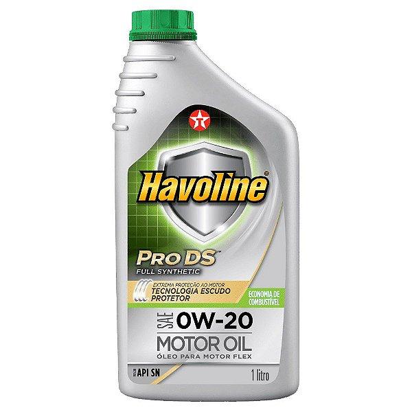 Óleo de motor 0W20 SN sintético - Texaco Havoline Pro DS Full Synthetic - 1 Litro
