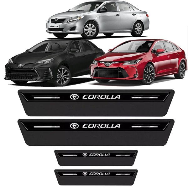 Soleira Adesivo Toyota Corolla Xei Altis Gli 2008 2009 2010 2011 2012 2013 2014 2015 2016 2017 2018 2019 2020 2021 2022
