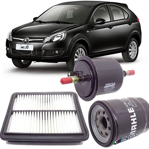 Kit Filtro De Ar Oleo Combustivel Jac J3 1.5 16V Flex Hatch Sedan Turin 2013 2014 2015