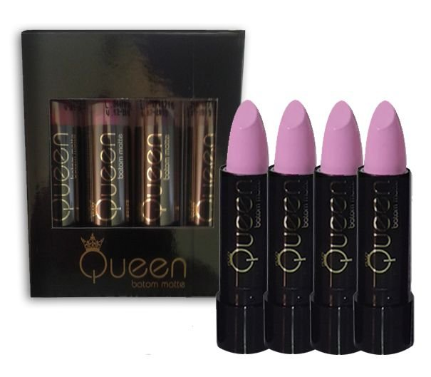 BATOM QUEEN GLOSS - SEMI BRILHO CXA C/4 UN COR 2 - ROSE