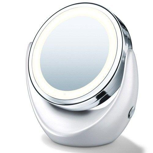 Espelho Dupla Face Com Luz Led Aumento 5x