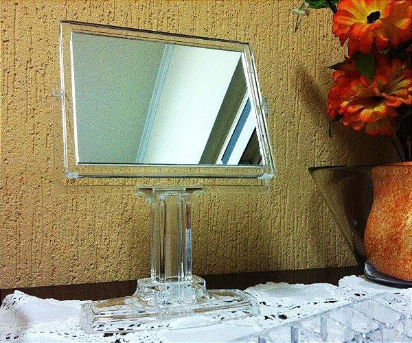 Espelho de Mesa para Maquiagem acrilico dupla face 360° Graus