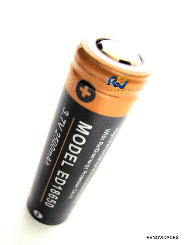 Bateria para lanternas  recarregável  18650