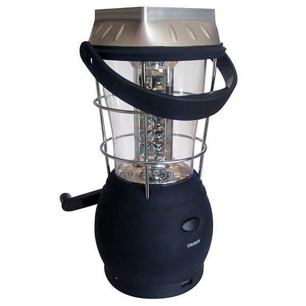 Luminária Solar Lampião Lanterna Elétrico Recarregável 36led