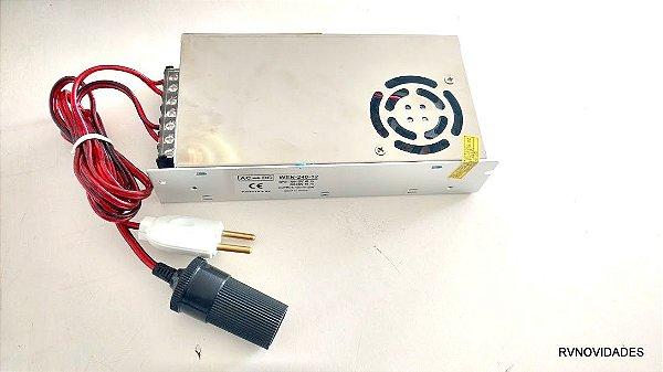 Conversor Adaptador 12v Mini Geladeira Bivolt P/ 110v 220v Nautika