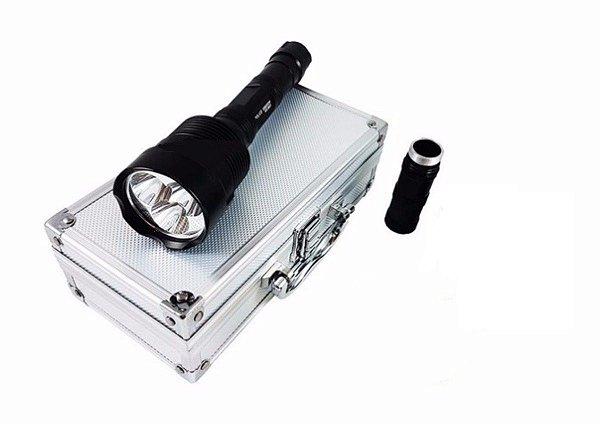 Lanterna Holofote recarregável Tática 3 Led L2 usa mais forte