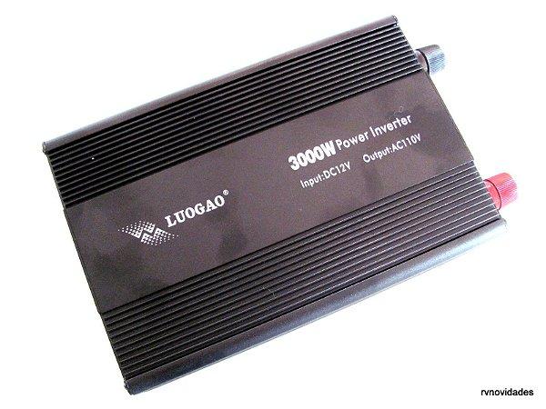 Inversor Conversor Transformador 3000w 12v 110v C/ 2 Tomadas