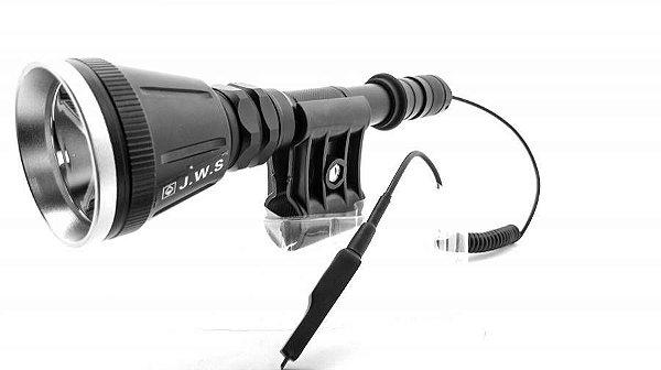 Lanterna tática led cree com acionador remoto e suporte para arma