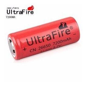 Bateria Recarregável para lanterna 26650  3.7v