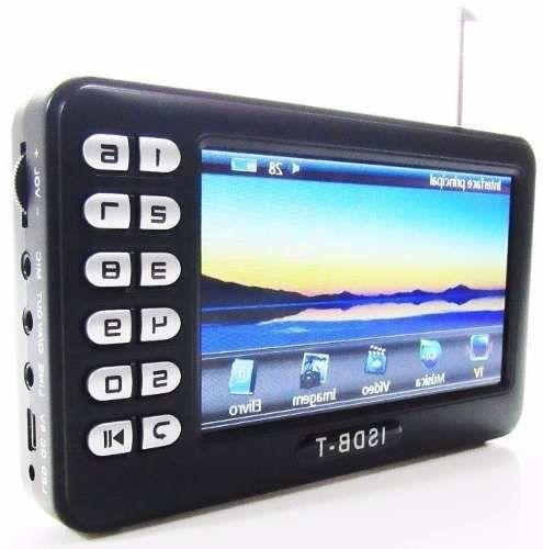 Tv Portátil Digital Tela 4.3 Rádio Rádio Fm Sd Video