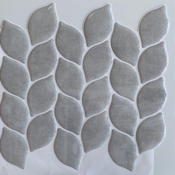 Pastilha Adesiva Resinada - Leaf Cimento Queimado