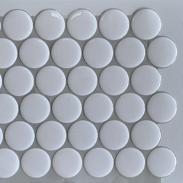 Pastilha Adesiva Resinada Dots White