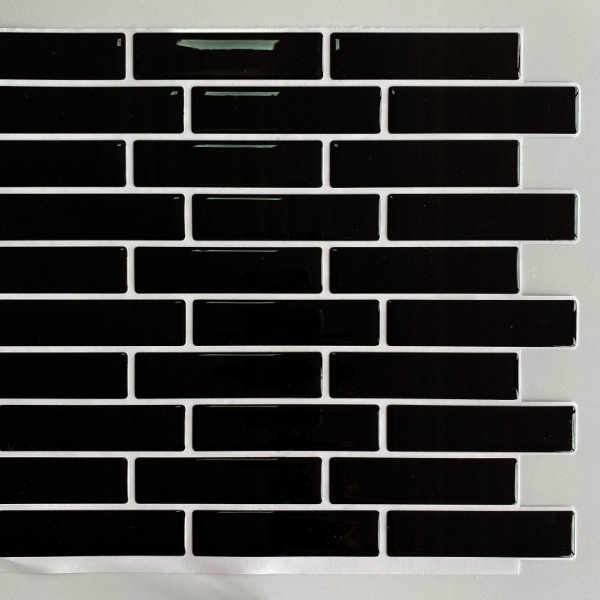Pastilha Adesiva Resinada Bricks Black