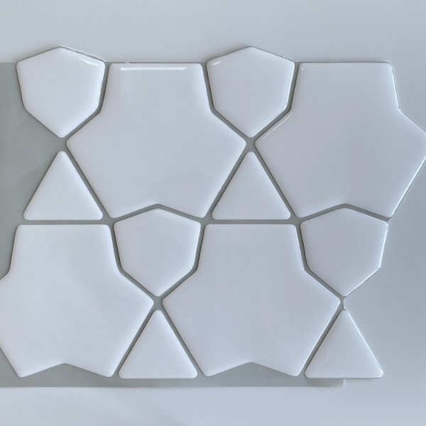 Pastilha Adesiva Resinada - Cracked White
