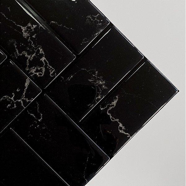 Azulejo Metrô Concept Black Marble
