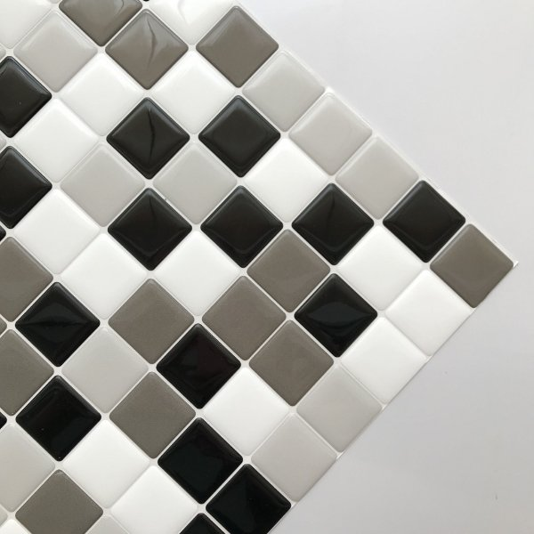 Pastilha Adesiva Resinada TONS DE CINZA 28 x 28 cm