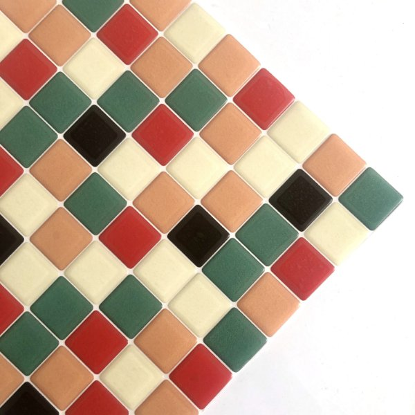 Pastilha Adesiva Resinada VINTAGE SHOP 28 x 28 cm