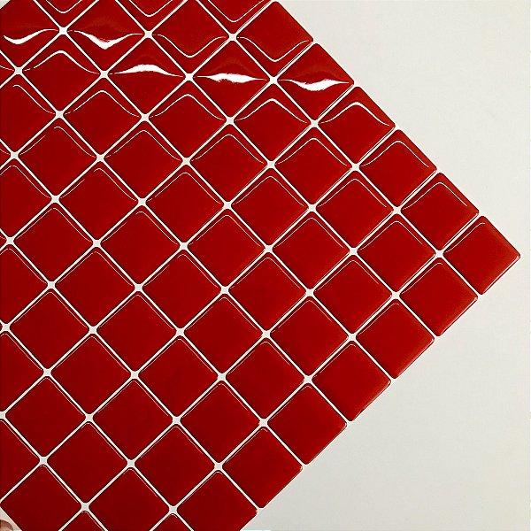 Pastilha Adesiva Resinada VERMELHO AMOR 28 x 28 cm