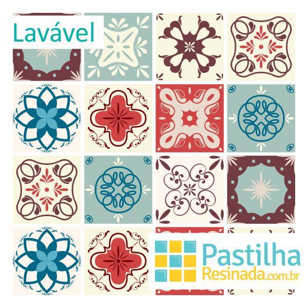 Azulejo Adesivo Vintage Porto Kit 18 peças