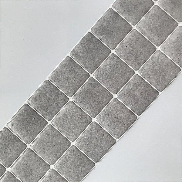 Pastilha Adesiva Resinada Cimento Queimado 28 x 9 cm