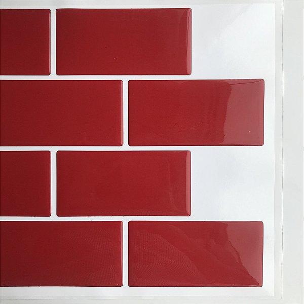 Azulejo Metrô Red