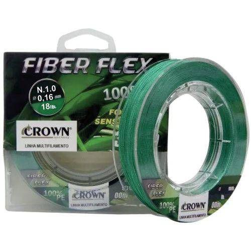 Linha Multifilamento Crown Fiber Flex 0,16mm - 100 Metros