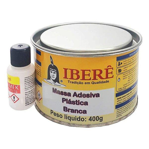 Massa Adesiva Plástica Cinza Iberê 400g + Catalizador R$ 9,90