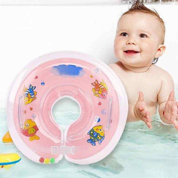 Boia De Pescoço Inflável Para Bebês - ROSA