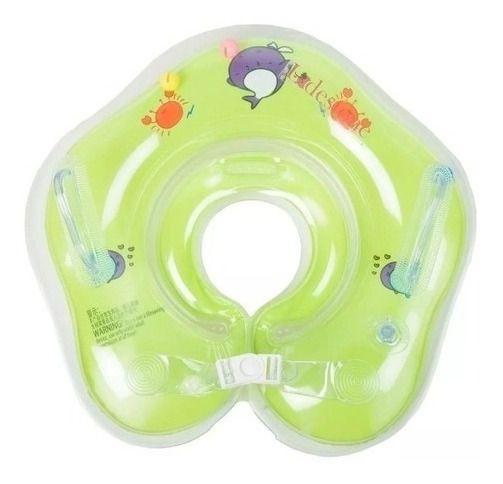 Boia De Pescoço Inflável Para Bebês - VERDE